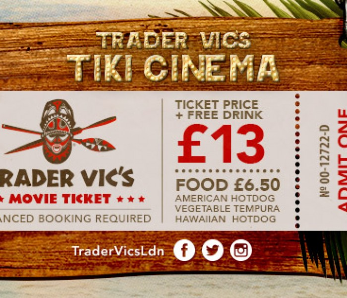 A Mai Tai and a Box of Popcorn! Trader Vic's Opens In-House Cinema