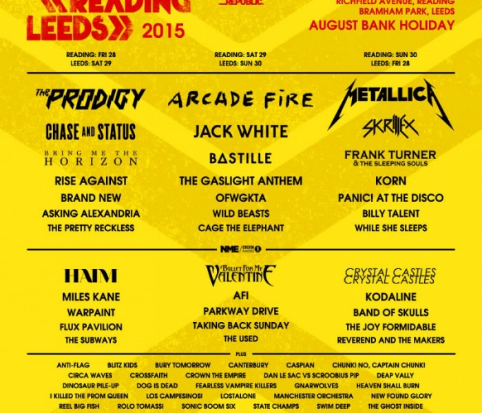 Reading And Leeds Announce Second Wave Of Artists For 2015