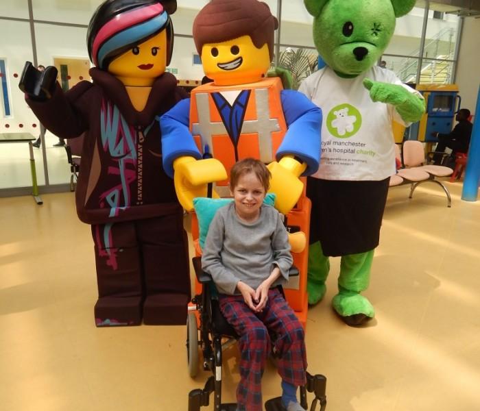 Emmet And Wyldstyle Visit Manchester Children's Hospital