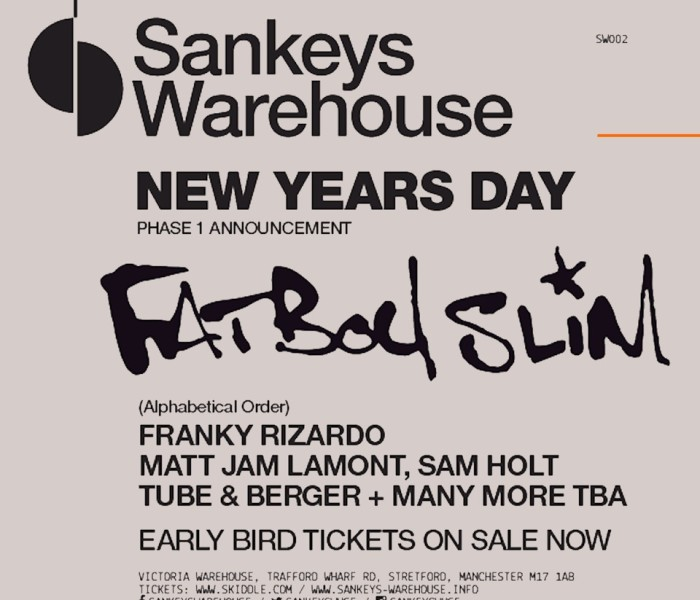 Fatboy Slim Announced To Headline The 2nd Event In Sankeys Warehouse Series