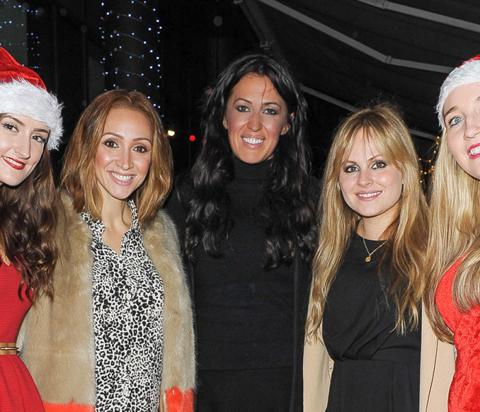 Tina O'Brien and Lucy-Jo Hudson Get Into The Festive Spirit At DoubleTree By Hilton's Winter Terrace Party