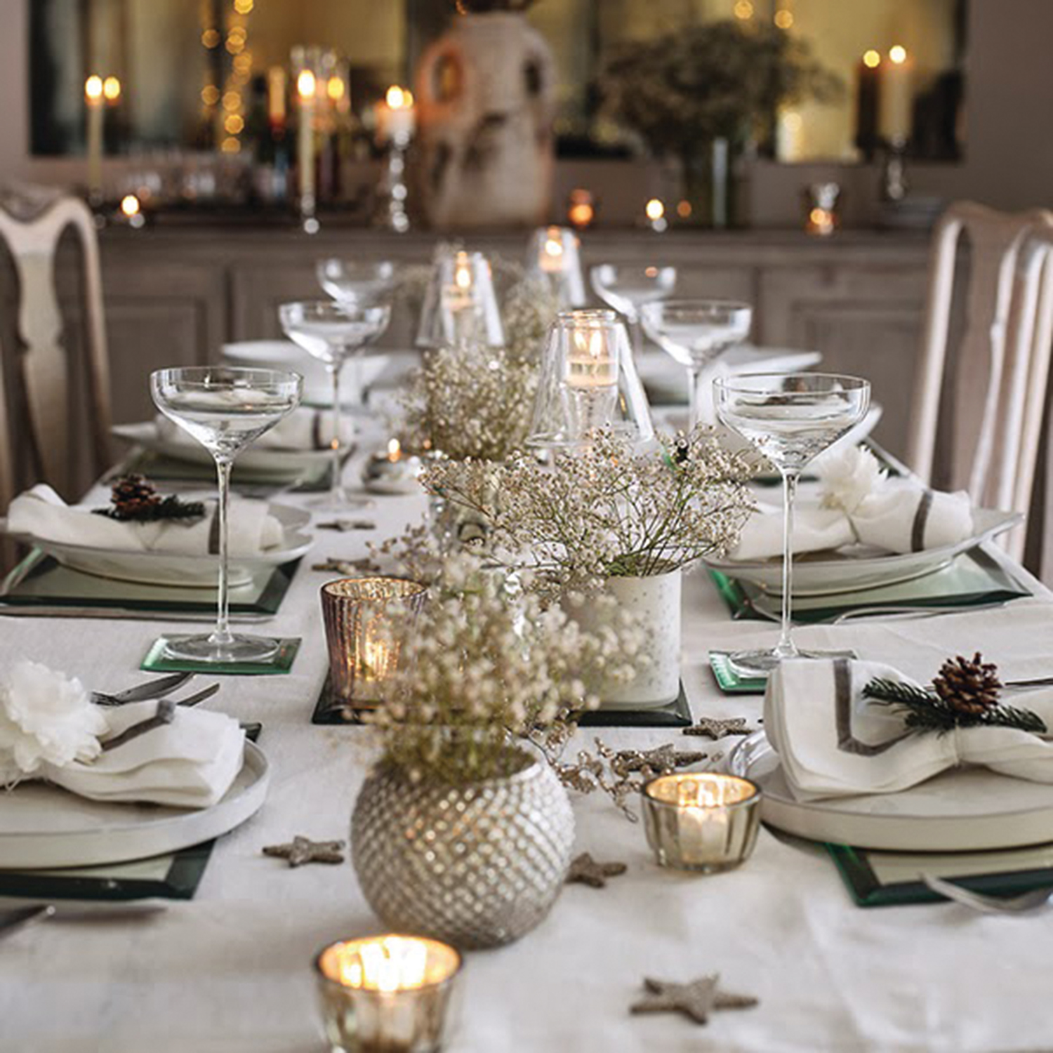 Gold And White Christmas Table Decorations hessian christmas table decorations – decoration image idea