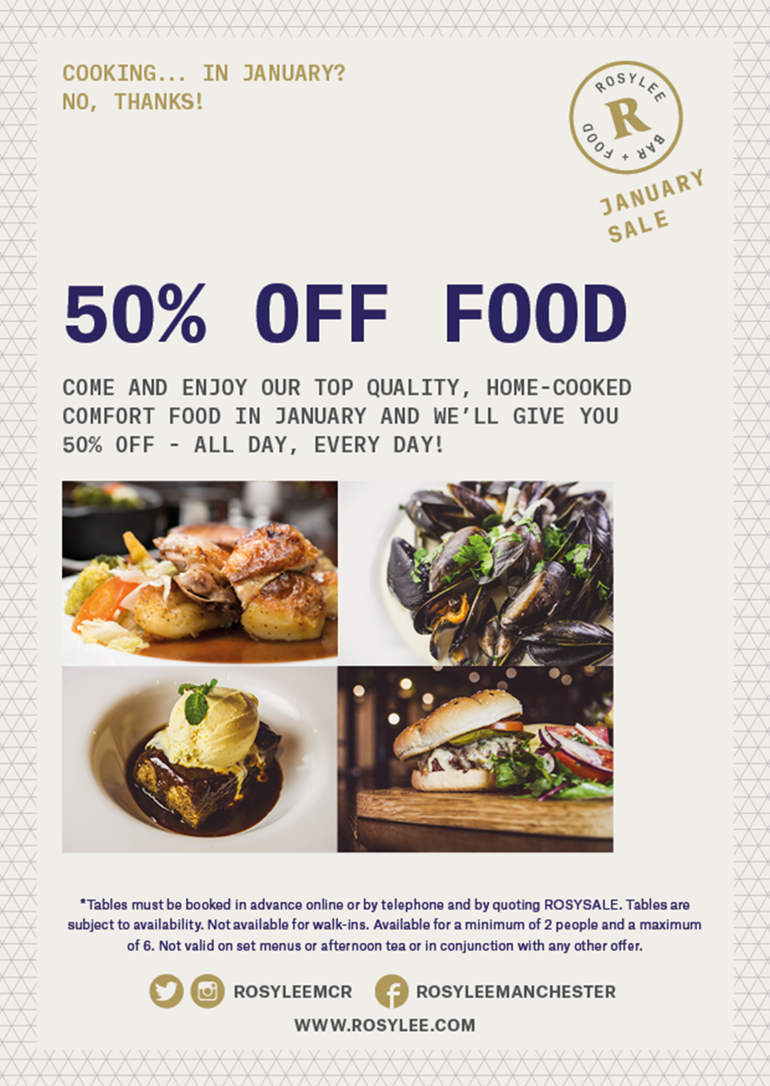 Rosylee 50% off food
