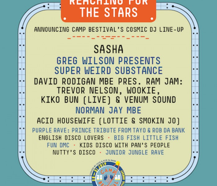 Reaching For The Stars Announcing Camp Bestival's Cosmic DJ Line-Up