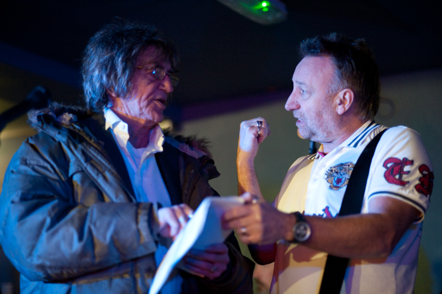 Flashback to Howard Marks & Peter Hook at FAC 251. Photo by Mark McNulty
