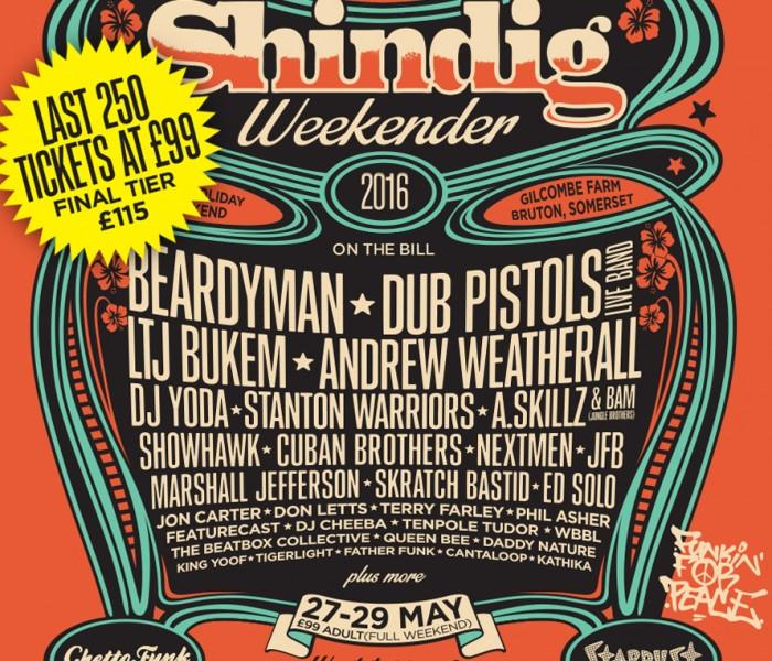 Shindig Weekender 2016