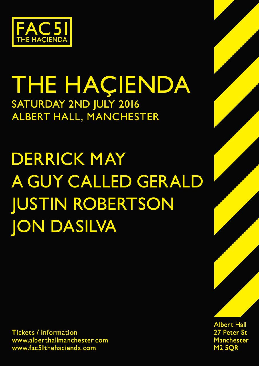 Hacienda Albert Hall 2nd July Poster
