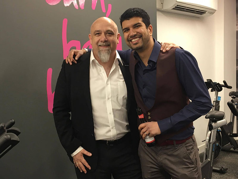 Left: Jan Spaticchia énergie Group, Chairman. Right: Karan Vig owner of the Fit4less Manchester gym