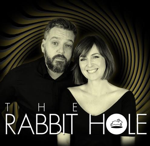 Iain Lee and and Katherine Boyle in The Rabbit Hole