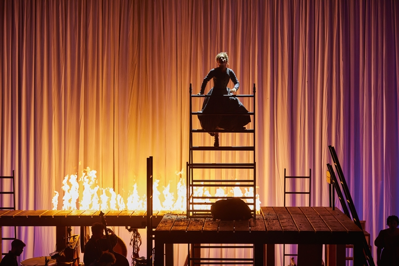 JANE EYRE: Nadia Clifford (Jane Eyre), National Theatre at The Lowry. Photo by Brinkhoff/Mögenburg.