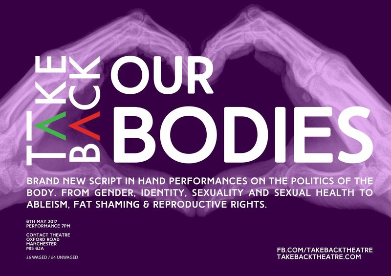 Take Back Our Bodies poster.
