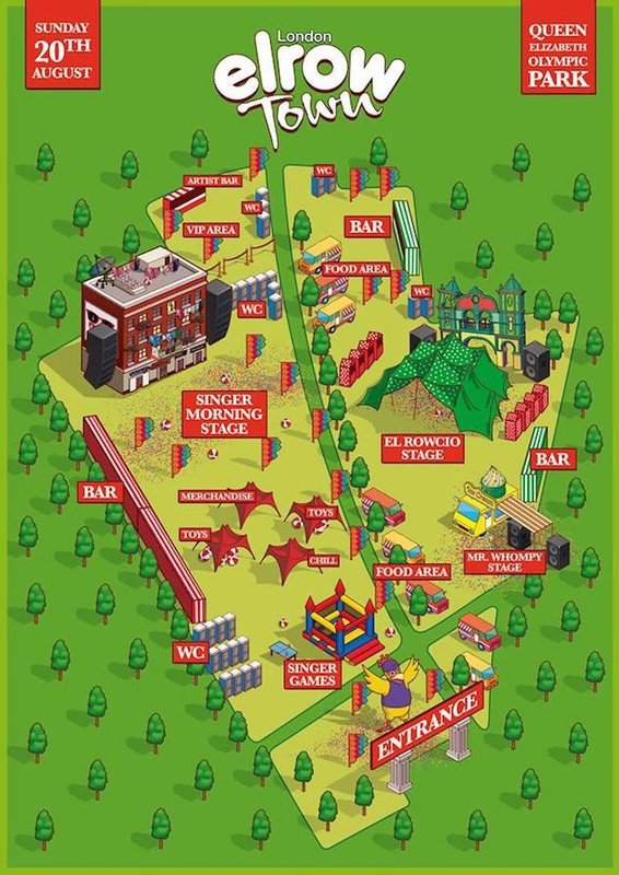 Map of elrow Town London