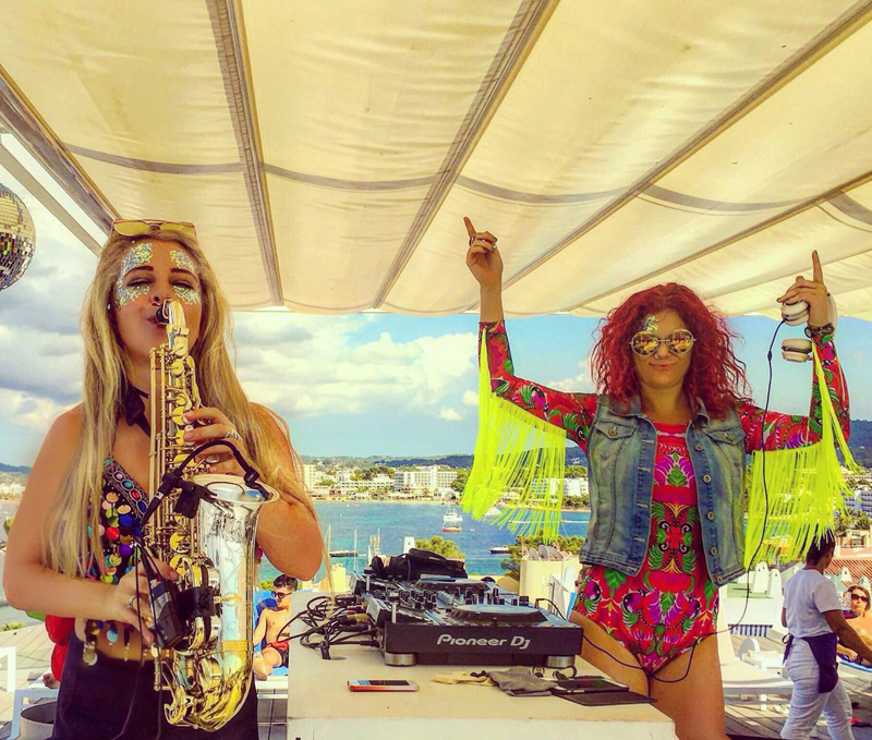 E.M.A & Girl On Sax at Sol House Mixed By Ibiza Rocks