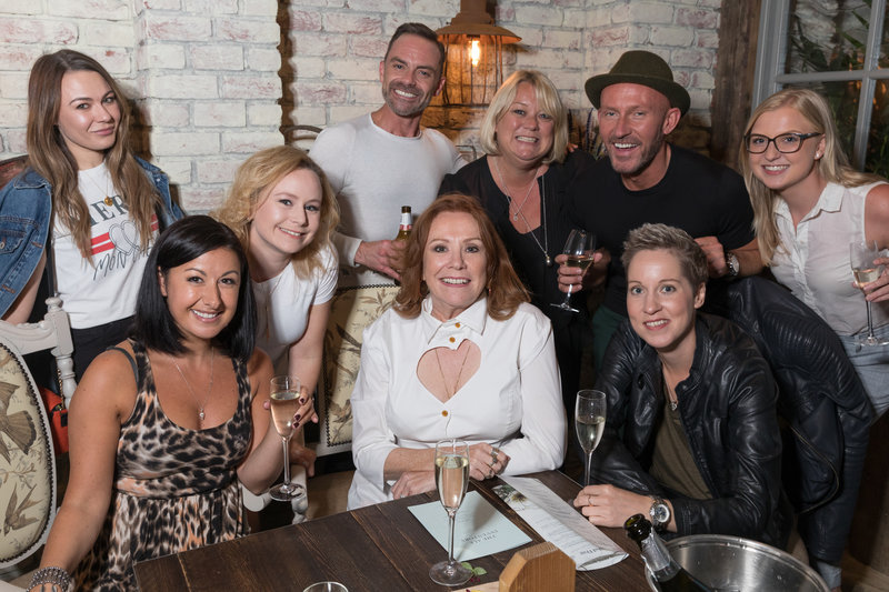 Corrie night out at The Botanist launch party in Media City.