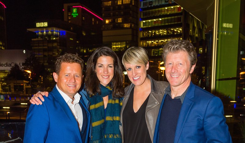 BBC Breakfast crew at the opening of The Alchemist in Media City UK. Photo by Ben Blackall.