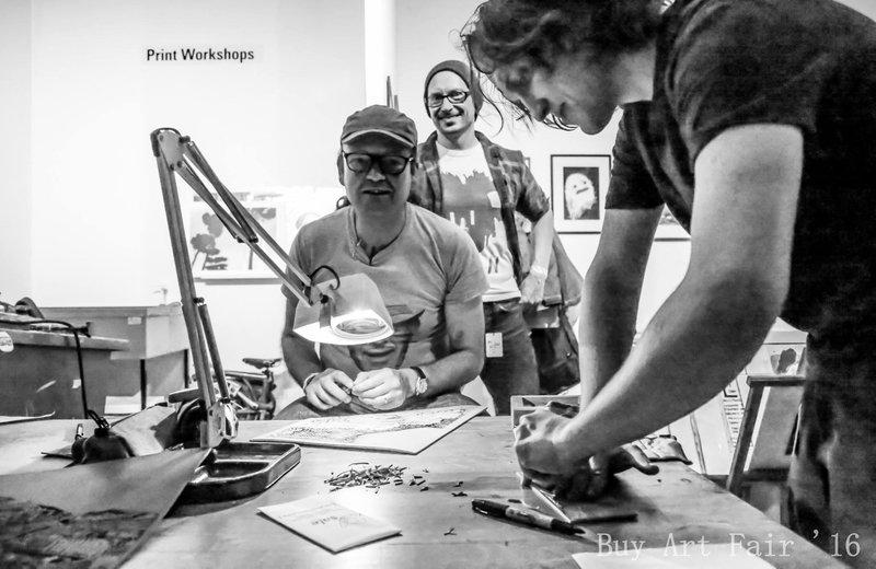 Buy Art Fair workshops 2016. Photo by Elspeth Moore.