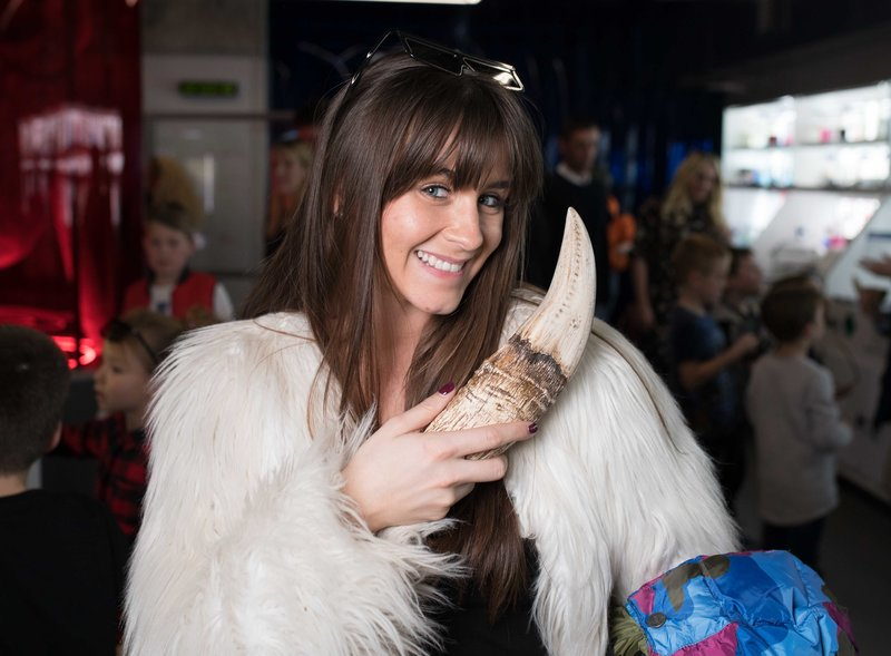 Brooke Vincent at Dinosaurs in the Wild. Photo by David Parry/PA Wire