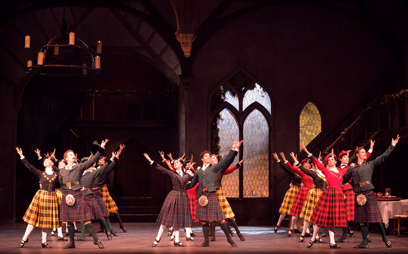 Eglish Nationa Ballet in La Sylphide © Laurent Liotardo