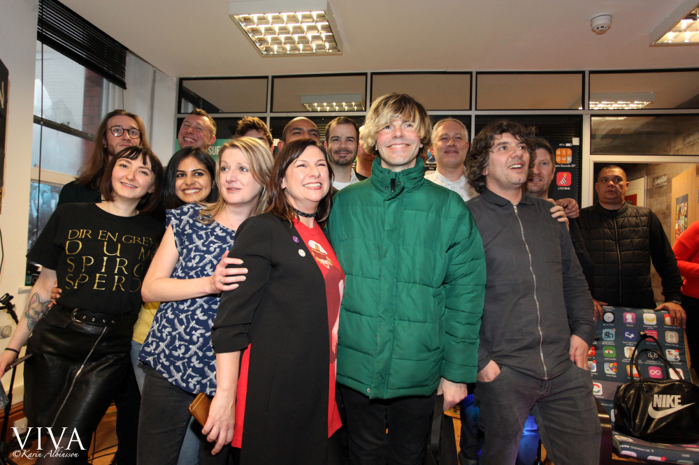 The Modern English team with Tim Burgess