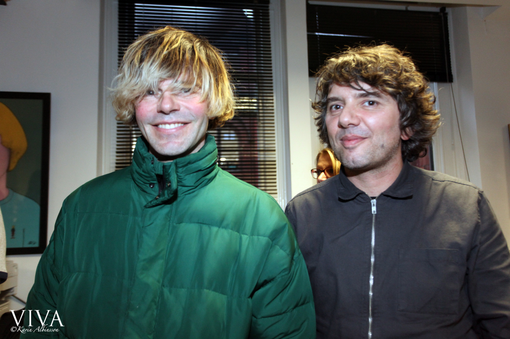 Tim Burgess of The Charlatans with Bruce Thomas of Modern English