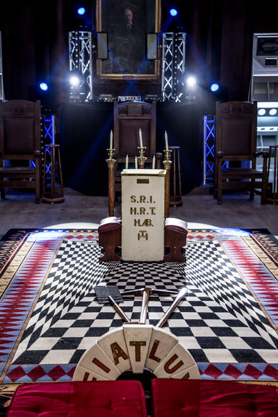Masonic room at manchester Hall. Photo by Elspeth Moore