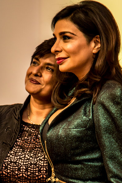Shobna Gulati at the Manchester Hall launch party. Photo by Elspeth Moore