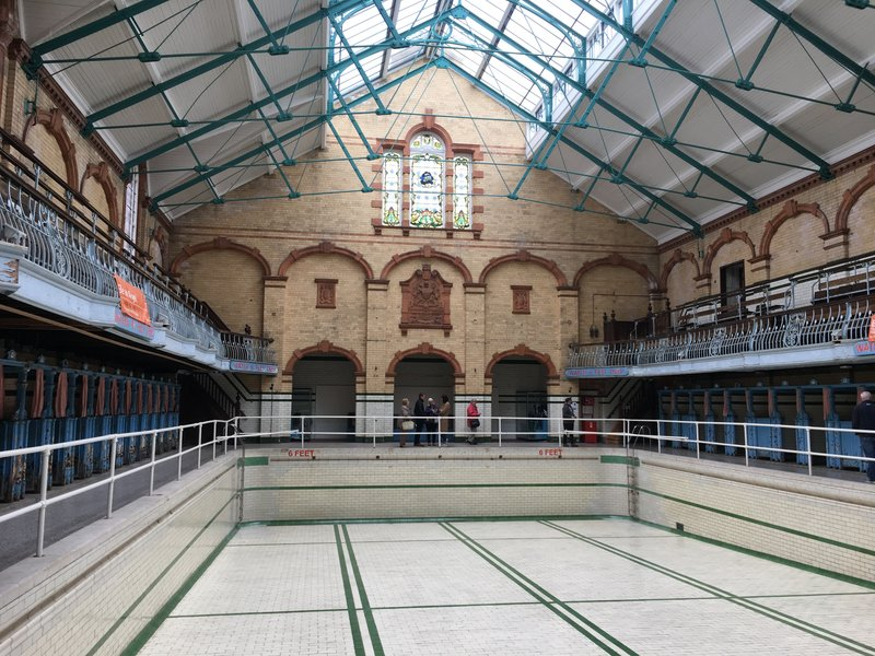 Males First Class Swimming pool at Victoria Baths in Manchester.