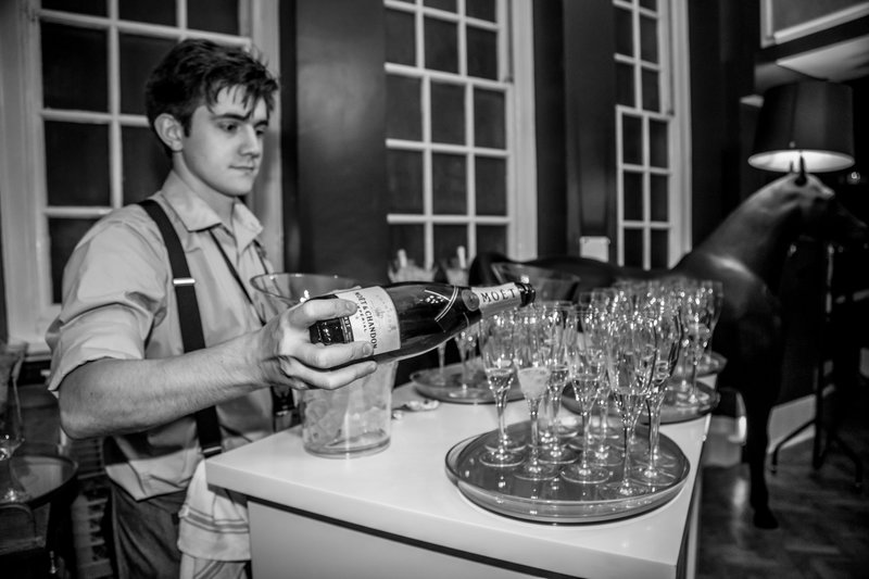 The champagne was flowing at Manchester Hall. Photo by Elspeth Moore.