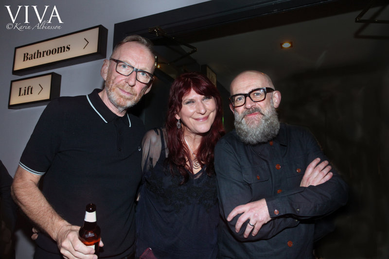 Viva's Debbie Manley with Hacienda DJs Mike Pickering and Graeme Park. Photo Karin Albinsson.