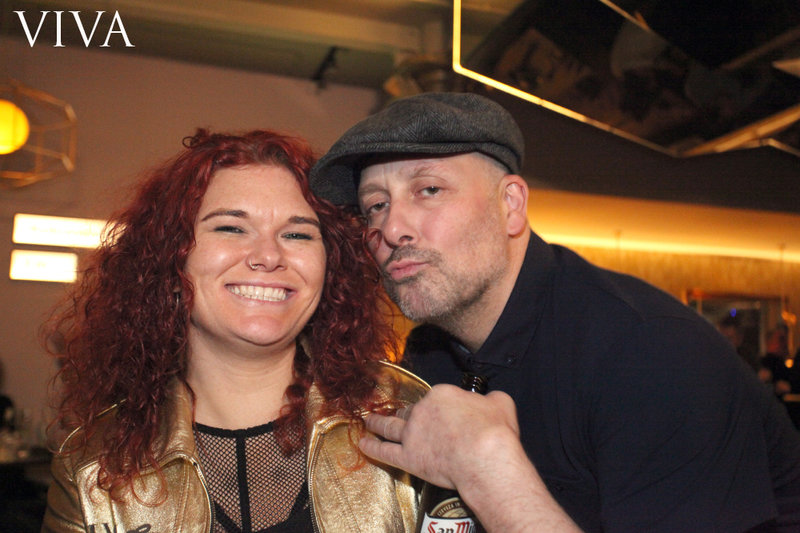 Viva's Emma Wilkinson and Vince Vega at the Hacienda Classical after party. Photo: Karin Albinsson