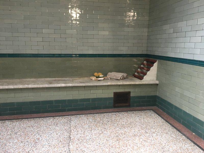 Turkish rest room at Victoria Baths in Manchester.