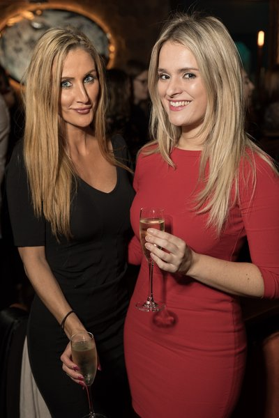 Laura Kinghorn and Samantha Walsh at the Dirty Martini launch party. Photo by Carl Sukonik / The Vain.