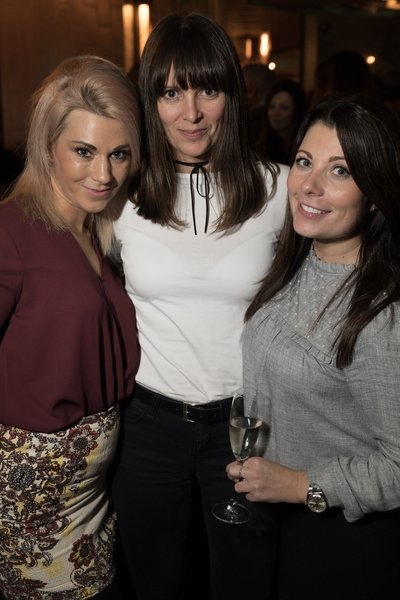 Sam Pollard, Claire Bradshaw and Kim Lyon at the Dirty Martini launch party. Photo: Carl Sukonik / The Vain