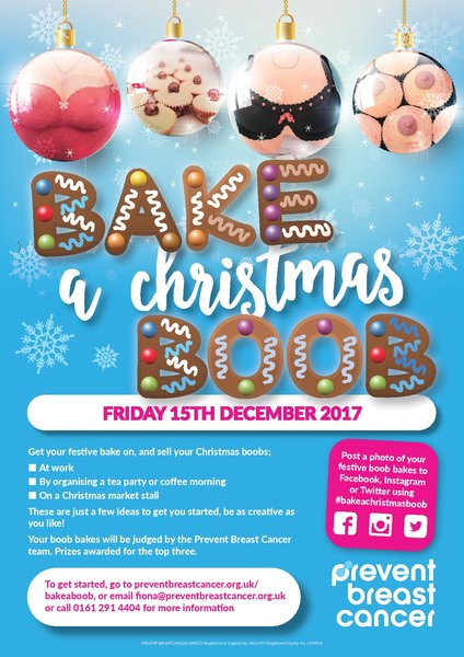 Bake A Christmas Boob To Help Prevent Breast Cancer For Future Generations Viva Uk Lifestyle Magazine