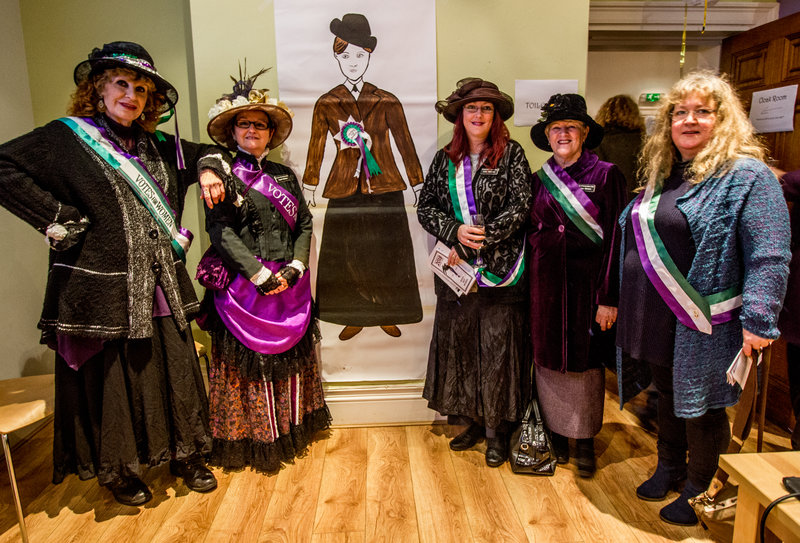 Friends of Wythenshawe Hall dressed as suffragettes. Photo by Elspeth Moore