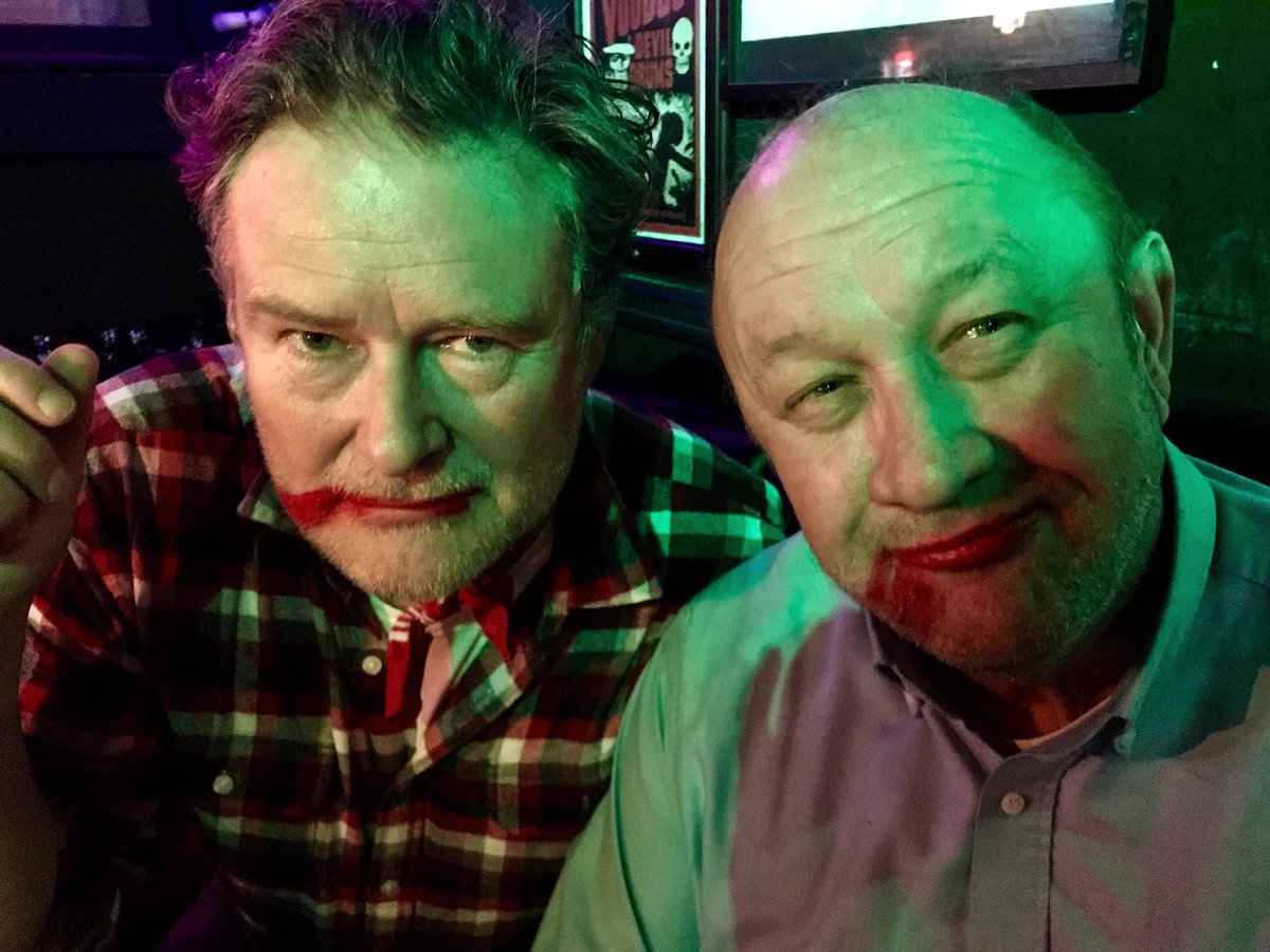 Photographer Will Wilkinson and friend supporting the #smearforsmear campaign