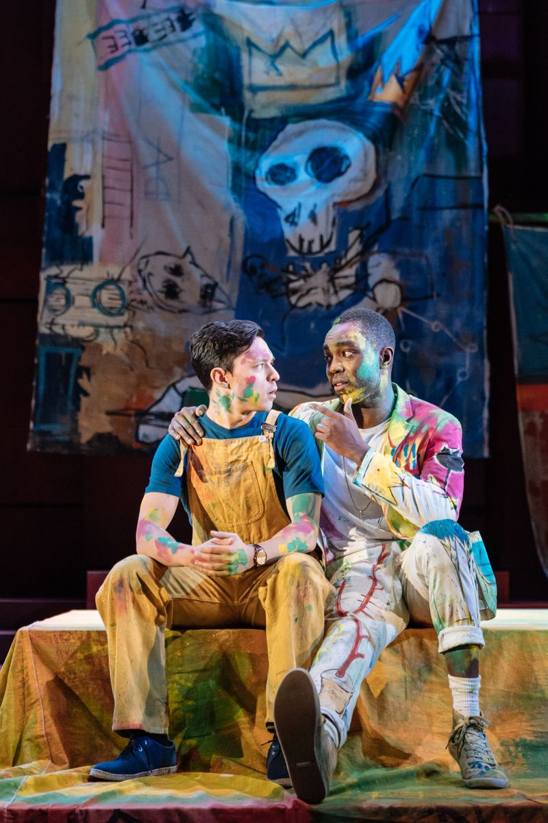 James Cooney as Horatio (left) and Paapa Essiedu as Hamlet. Photo by Manuel Harlan for the RSC