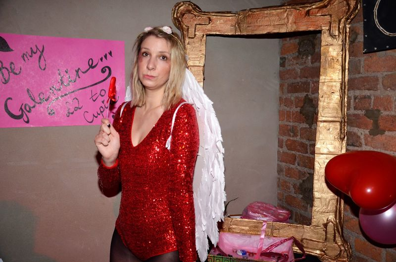 Cupid giving out good vibe notes at last years Galentine's disco. All images courtesy of Girl Gang Manchester