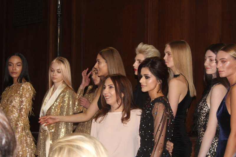 Ambassadors Zeynep Kartal (bottom left) with Bhavna Limbachia and the models