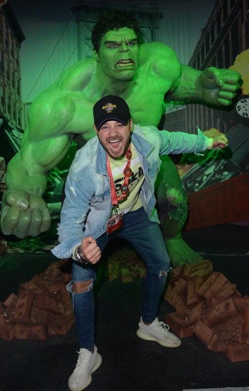 Adam Thomas gave his best Hulk roar