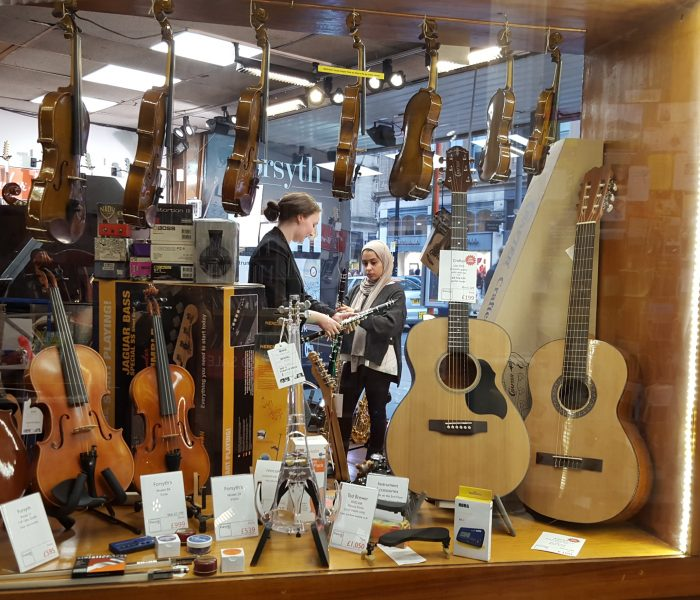 No more excuses… Learn to play for free at Manchester's Forsyth Music Shop!