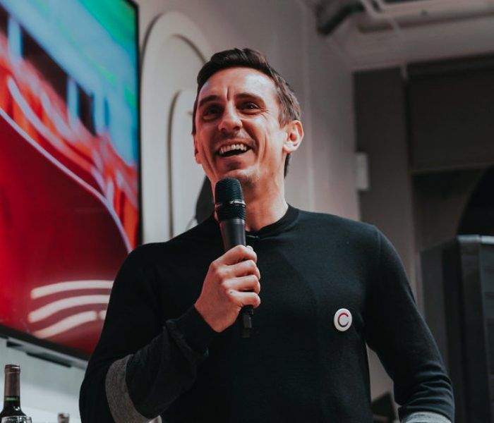 Gary Neville reveals his secret addiction at the launch of Sync Manchester