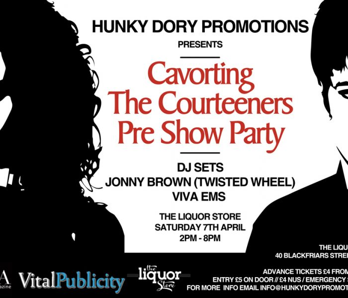 Your chance to go cavorting before The Courteeners at exclusive pre-party