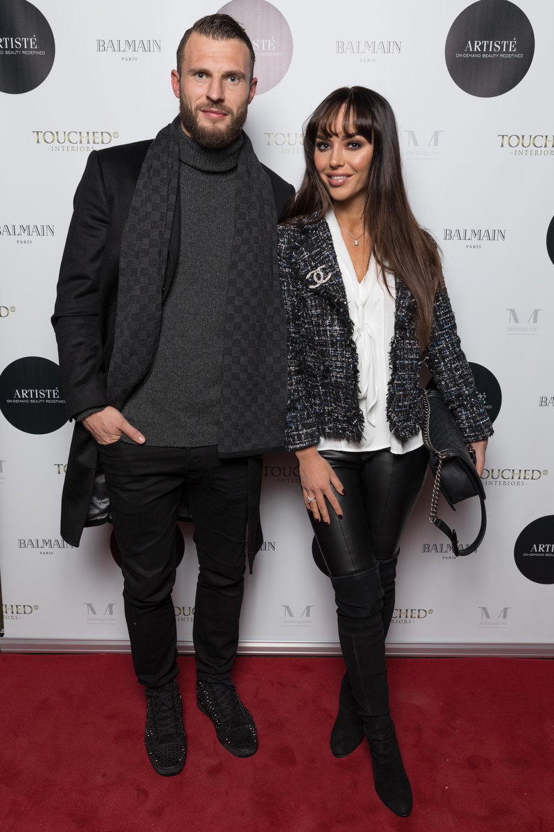 Real Housewives of Cheshire star, Nermina Pieters-Mekic and her Stoke City footballer husband, Erik.