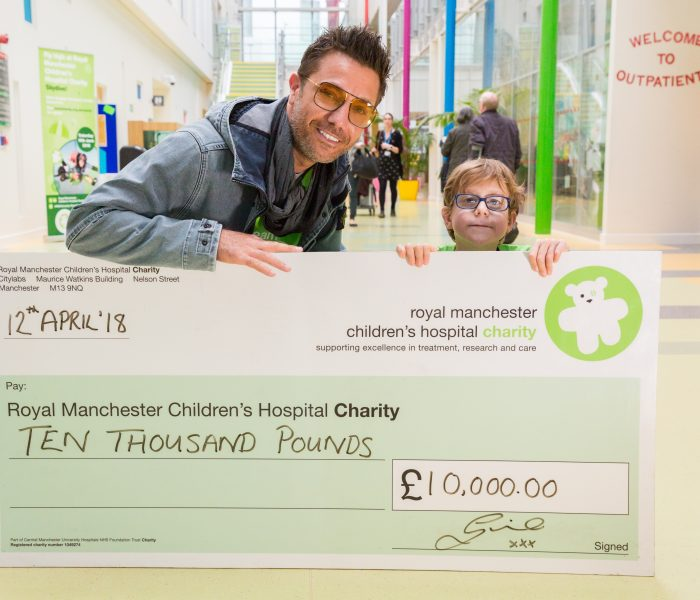 Gino D'Acampo serves up a smile at Manchester Children's Hospital