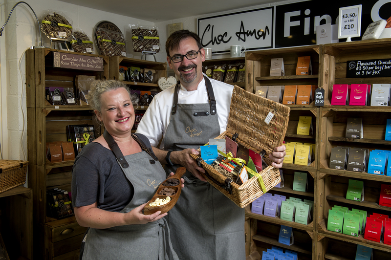 Paul and Jacqui Williams of Choc Amor, Cedars Farm, Mawdesley, Lancashire. Picture by Paul Heyes, Friday September 22, 2017.