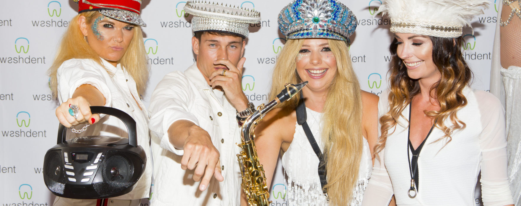 Joey Essex Parties With DJ E.M.A and The Girls That Mix at Washdent White Party Launch
