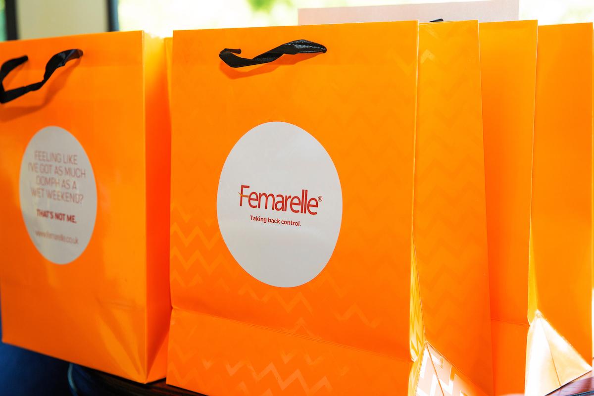 Femarelle - Recharge goody bag Credit: Oak base Integrated Marketing