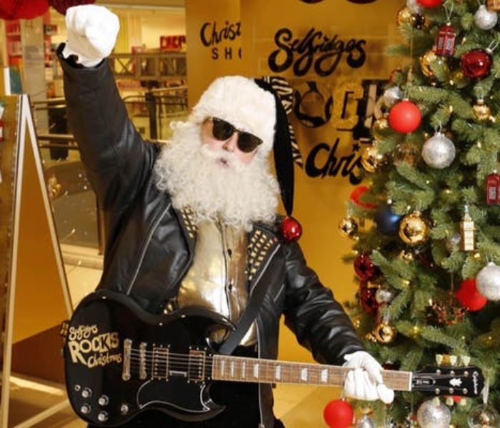 Rock and roll at Selfridges as the department store kicks off Christmas in true style
