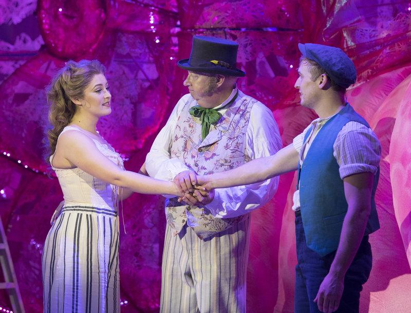 Doctor Dolittle (Mark Williams), Emma Fairfax (Mollie Melia-Redgrave) and Matthew Mug (Patrick Sullivan)